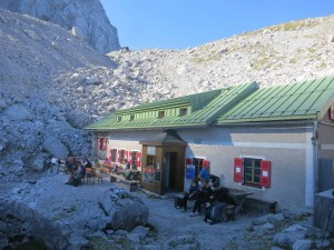 "The ""Wiener Neustädter Hütte"", a classic old mountain hut"